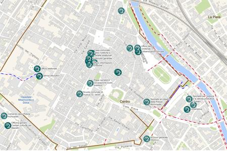 Mappa degli uffici